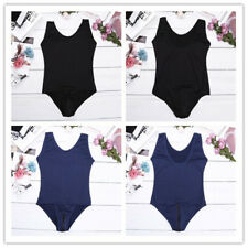 Women Crotch One Piece Swimsuit Swimwear Bathing Suit Monokini Leotard Bodysuit
