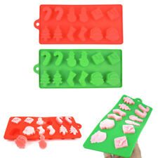 Home Christmas Silicone Cake Fondant Mold Sugar Craft Decorating Chocolate Mould