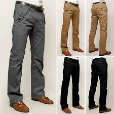 Mens Formal Business Pants Wedding Slim Fit Straight Suits Cuasal Cloth Trousers