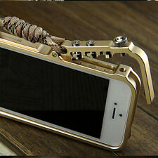 Aluminum Metal Button Hard Cleave Frame Bumper Case Cover For iPhone 6 6s Plus 5