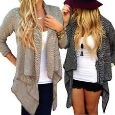 Womens Tops Cardigan Loose Sweater Long Sleeve Knitted Outwear Jacket Coat