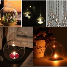 Glass Round Hanging Candle Light Holder Candlestick Party Home Decor Romantic