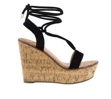 TONY BIANCO DAKAR BLACK KID SUEDE CASUAL WEDGE