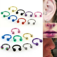Piercing Horseshoe Eyebrow Nose Ear Lip Bar Nipple Rings Cartilage Piercing BL