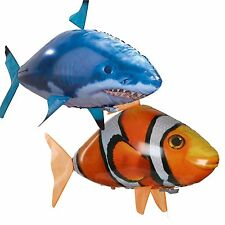 Remote Control RC Inflatable Balloon Air Swimmer Flying Nemo Shark Blimp Toy