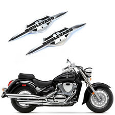 Chrome 3D ABS Plastic For Suzuki Boulevard & Intruder Emblem Decal Badge Sticker