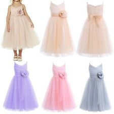Flower Girl Birthday Princess Pageant Wedding Party Formal Tutu Dress Tulle Gown