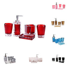 5 Pieces Bathroom Accessory Set Tumbler And Toothbrush Holder Home Decor