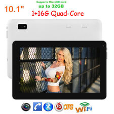 10.1'' Android 4.4 Tablet PC Quad Core 1+16GB Dual Camera WIFI 3G Bluetooth New
