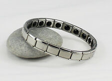 Titanium Power Nano Energy Bracelet Stainless Steel Balance Magnetic Band 20 !!