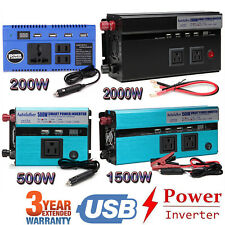 4000W WATT Peak Car Power Inverter DC 12V to AC 110V Dual USB Converter Charger