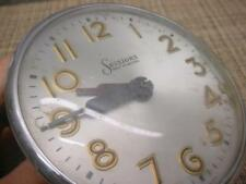 """Sessions Clock Co. 4"""" Round  Electric Movement Turns w/ Power Parts Repair E524c"""