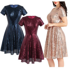 New Women Sequins Short Mini Dress Formal Prom Cocktail Evening Party Dress Gown
