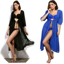Women summer kimono swimwear bathing suit sexy beach dress cover up chiffon