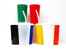 3 Large 32 Ounce Fluted Tumblers, Lids & Straws Choice 8 Colors Made in America