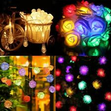 30 Lights Solar LED Fairy String Lights Christmas Wedding Party Decor 60M 19YARD