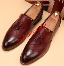 Mens WingTip Dress Formal Shoes Oxfords Loafers Brogue Tassel Casual New Shoes