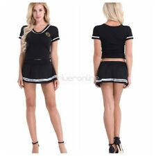 Sexy Cosplay Costumes Dress Women Lingerie Role Play Cheerleader Top Outfit