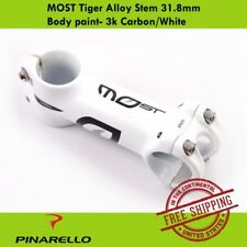 Pinarello MOST Tiger Alloy Stem 31.8mm Body paint- 3k Carbon/White(80/90/100mm)