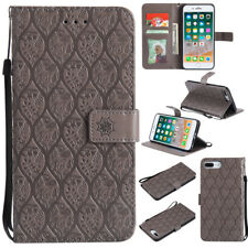 Brown Flip PU Leather Stand Wallet Card Pouch Cover Case for iPhone 5 5s SE