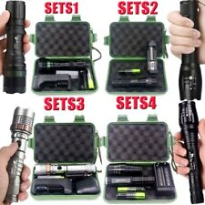 Tactical Zoomable 50000Lumen XML T6 LED Flashlight Lamp Torch+18650+Charger+Case