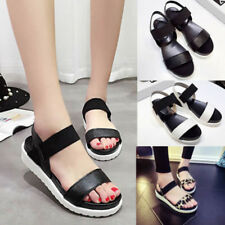 CO_ Summer Women Roman Sandals Open Toe Ankle Strap Anti-skid Platform Shoes Del