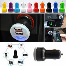 Dual 2 Port 2.1A + 1A USB Car Charger for iphone 4S 5 5S iPod Touch HTC Samsung