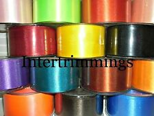 DOUBLE SIDED SATIN RIBBON 50MM, ASSORTED COLOURS, SOLD IN 5MTR LENGTHS