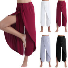 2018 Women Yoga Lounge Sport Solid Soft Wide Leg Casual Loose Long Pants Trouser