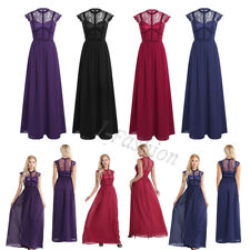 Women's Cocktail Formal Party Bridesmaid Wedding Elegant Evening Dress Prom Plus
