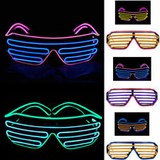 LED EL Wire Light Up Eyeglasses Glow Shutter Glasses Shade For Club Dance Party