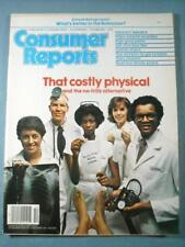 VINTAGE OCTOBER 1980 CONSUMER REPORTS MAGAZINE: THAT COSTLY PHYSICAL