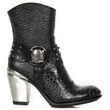 New Rock Womens M.7988-C11 Black Cow Leather Boots - Cyber,Punk,Gothic - [SO]