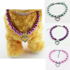 Rhinestone Dog Pearl Collars Diamond Pet Cat Dog Party Necklace For Chihuahua