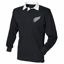 Classic Vintage Style New Zealand All Blacks Rugby Shirt with Free Personalisati