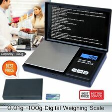 Electronic Pocket Mini Digital Gold Jewellery Weighing Scales 0.01G to 100G HM