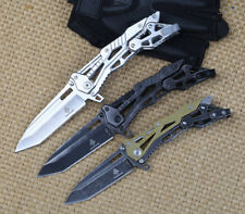 NEW SR Camping Hiking Chrome Steel  Folding Knife Outdoor Tools  Hot Sale