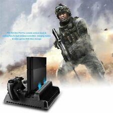 3 in1 Cooling Stand Fans+2 Charging Station for PS4/PS4 Pro/PS4 Slim consoles BB