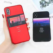 Ultra-thin Hard Fashion Pattern Case Skin Cover for Apple iPhone X 7 6S Plus 8