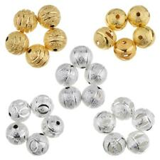 50pcs 10mm Copper Spacer Loose Beads Ball Round Frosted Spacer Jewelry Making