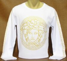 NEW With TAGS Men's VERSACE Slim Fit Long Sleeve T-SHIRT Size M-L-XL-2XL