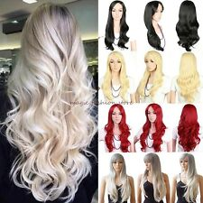UK Lady Wig Long Curly Straight Cosplay Party Fancy Dress Natural Fashion Ombre