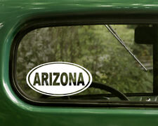 ARIZONA DECAL 2 Oval Stickers For Car Truck Laptop Rv Window Bumper Boat Jeep