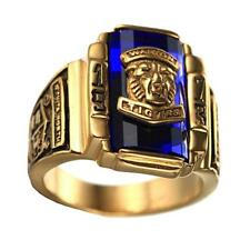 Retro Tiger Head Punk Rock Stainless Steel Signet Cocktail Finger Ring Band