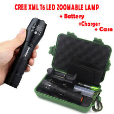 15000LM  XM-L T6 LED Zoomable Flashlight Torch Lamp Light +Battery+Charger+Case