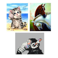 DIY 5D Cross Stitch Kit Animal Diamond Embroidery Painting for Home Ornament
