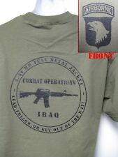 101ST AIRBORNE T-SHIRT/ IRAQ COMBAT OPS T-SHIRT/ ARMY/ MILITARY/ NEW