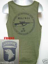101ST AIRBORNE/ TANK TOP/ OD GREEN/ T-SHIRT/ MILITARY/ M14 M1A /  NEW