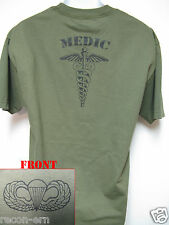 AIRBORNE T-SHIRT/ MEDIC T-SHIRT/ COMBAT/ ARMY/ MILITARY/ NEW