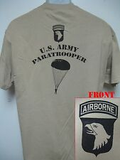 101st AIRBORNE T-SHIRT/ PARATROOPER T-SHIRT/ MILITARY/ PARACHUTE/ JUMPER/ NEW